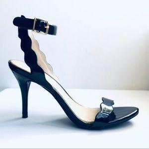 Jessica Simpson patent leather scallop heels